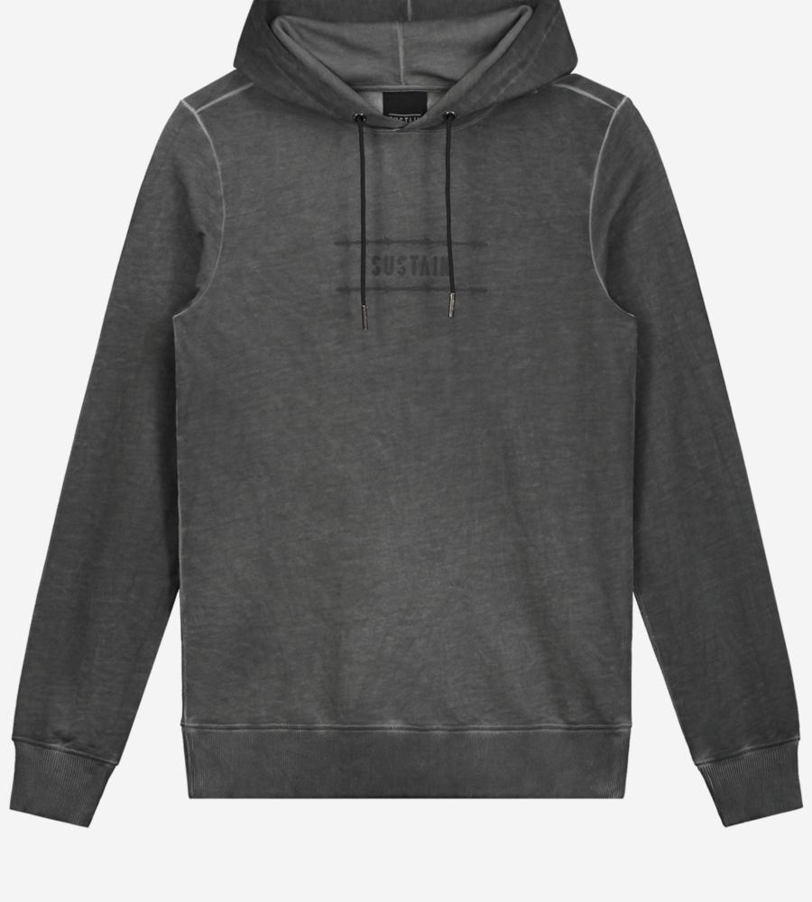 Grijze gewassen hoodie afbeelding 1