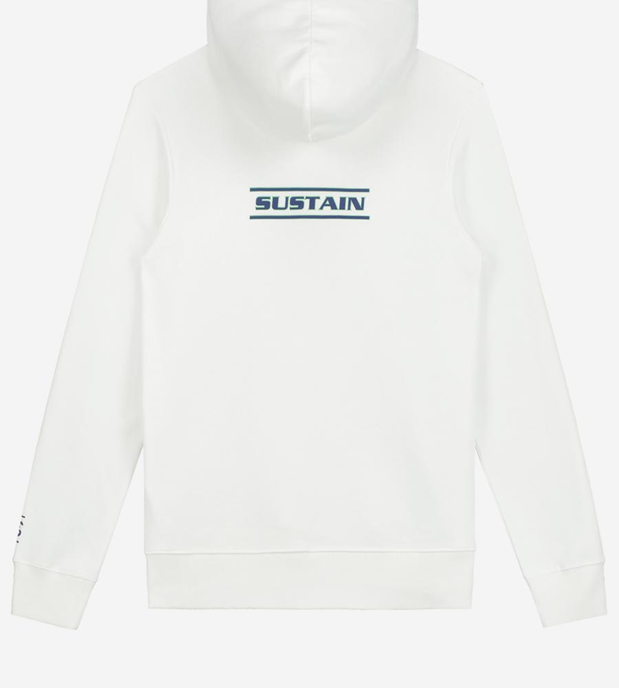 Witte hoodie met artwork afbeelding 3