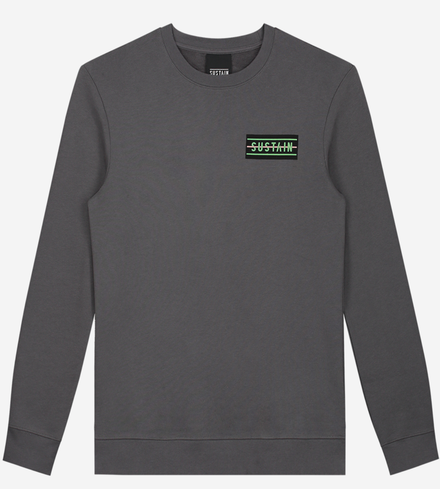 Loose fit sweater met artwork afbeelding 1