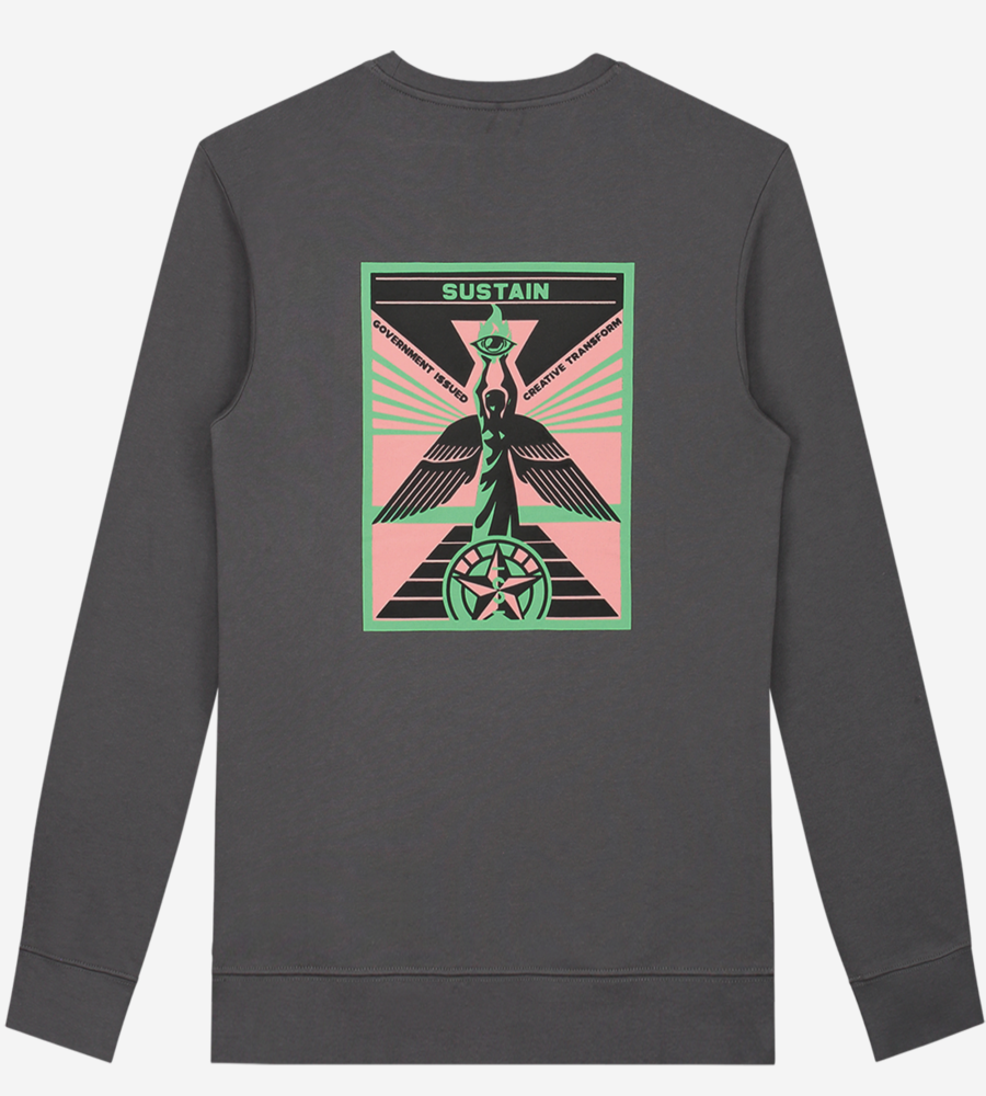 Loose fit sweater met artwork afbeelding 4