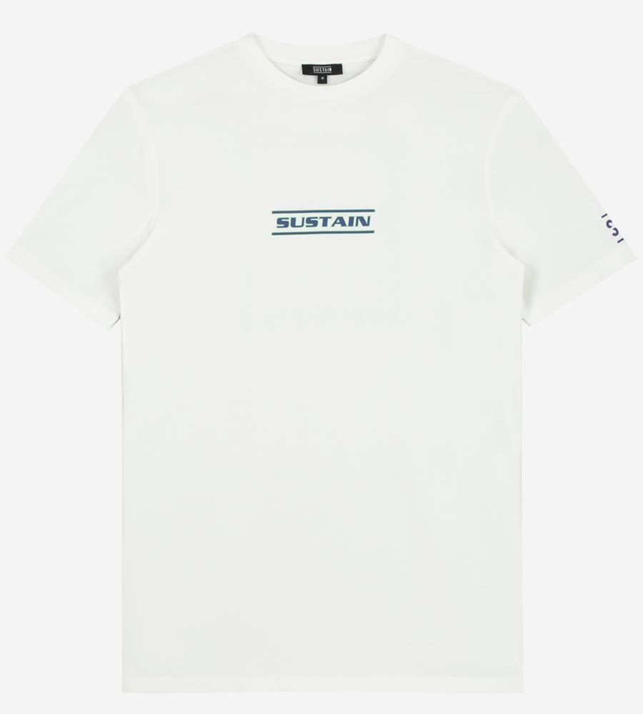 Wit t-shirt met artwork afbeelding 1
