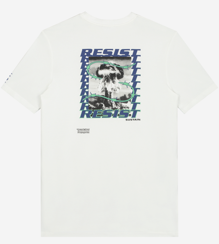 Wit t-shirt met artwork afbeelding 3