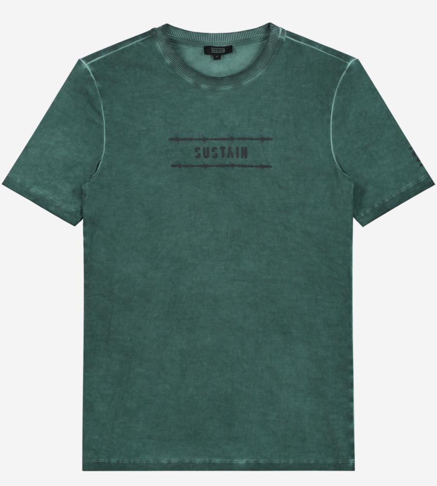 Groen gewassen t-shirt afbeelding 1