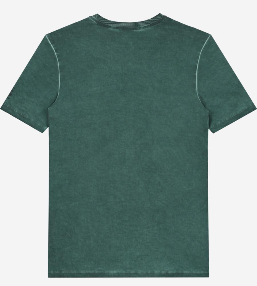 Groen gewassen t-shirt afbeelding 2