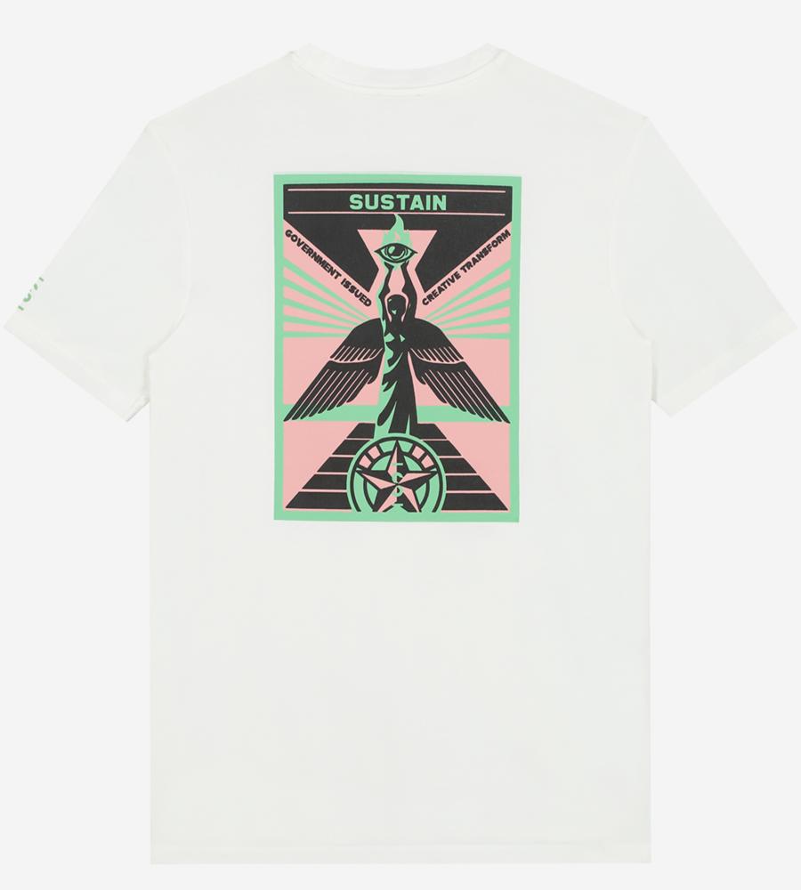T-shirt met sustain logo afbeelding 2