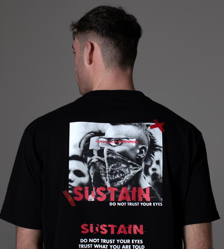Boxy t-shirt met logo artwork afbeelding 3
