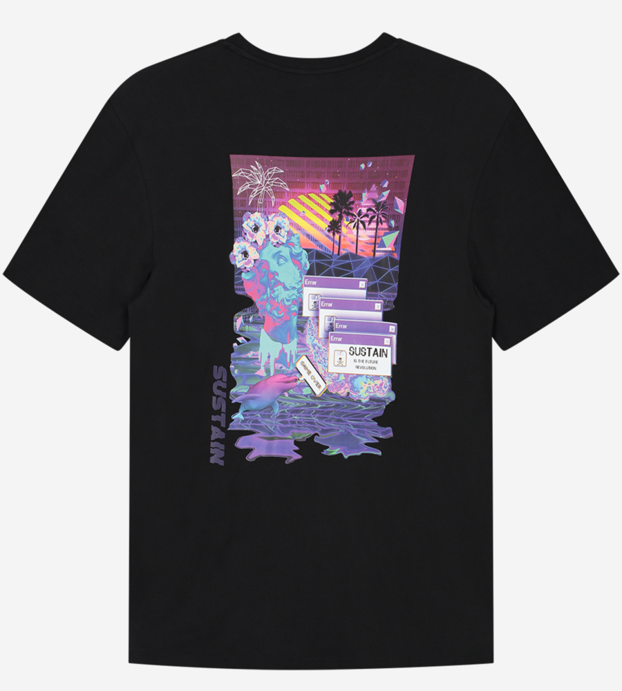 T-Shirt Met Futuristisch Artwork afbeelding 4