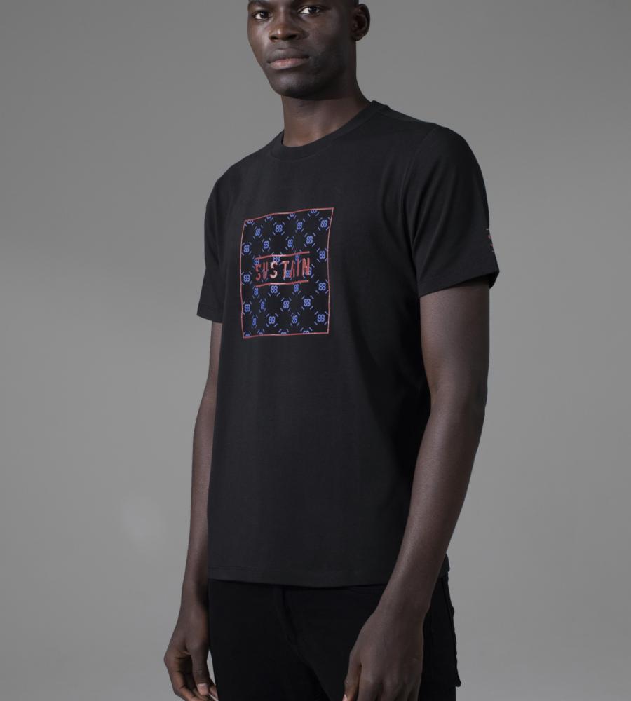 T-shirt met logo repeat afbeelding 2