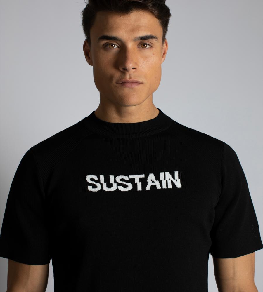 Knitted logo shirt afbeelding 3