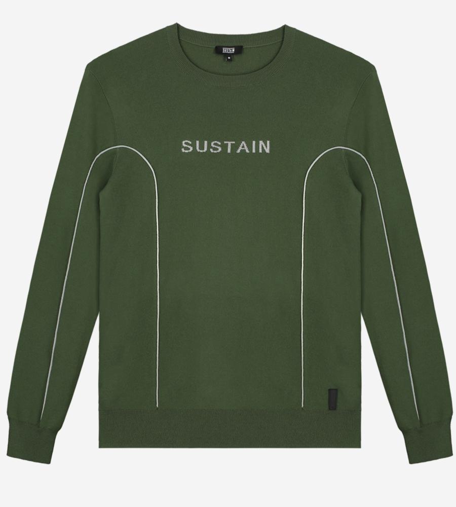 Fijn gebreide trui met sustain logo afbeelding 1