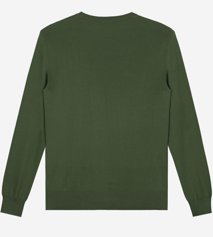 Fijn gebreide trui met sustain logo afbeelding 3