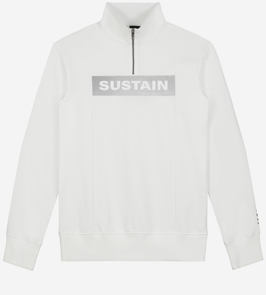 Effen sweater met reflecterend logo afbeelding 1