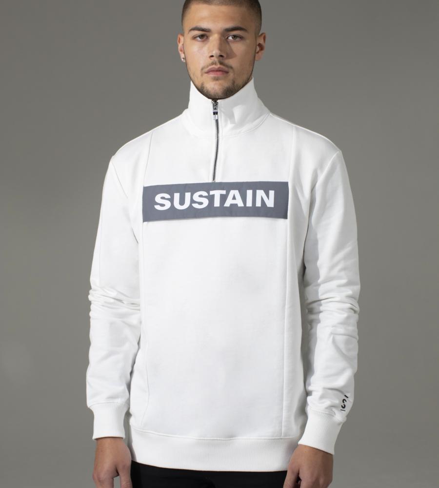 Effen sweater met reflecterend logo afbeelding 2