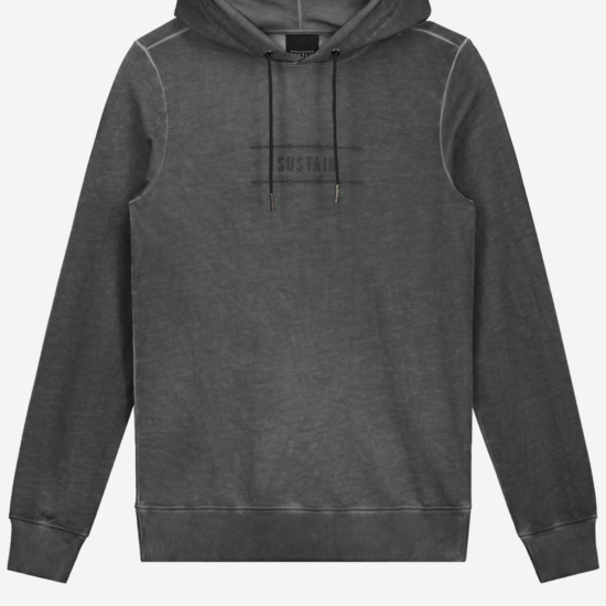 Grijze gewassen hoodie