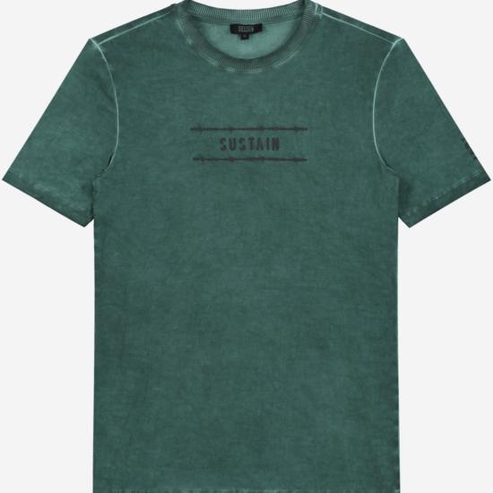 Groen gewassen t-shirt