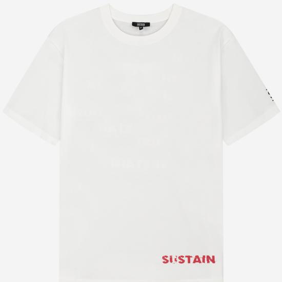 Boxy t-shirt met logo artwork