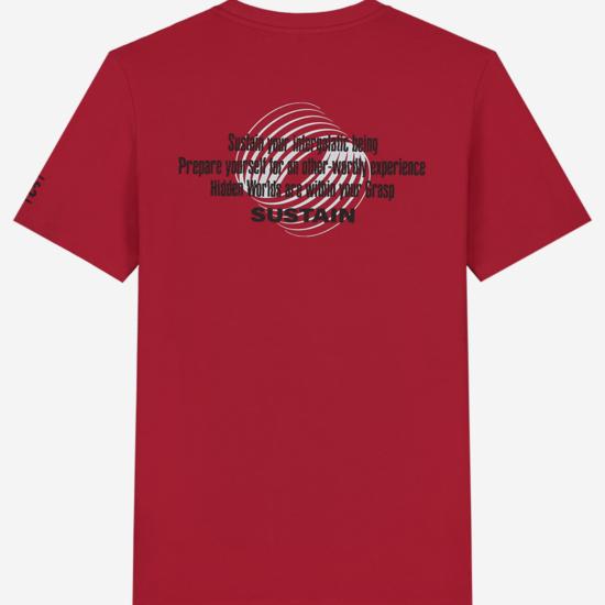 T-shirt met Sustain-artwork