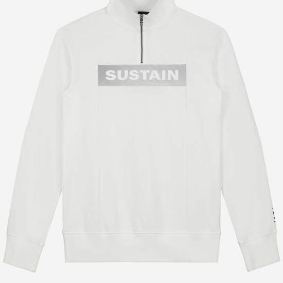 Effen sweater met reflecterend logo